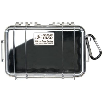 Pelican 1050Cwb 1050 Micro Case - Clear With Black