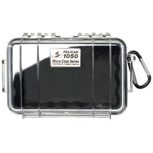 Pelican 1050 Micro Case - Clear With Black