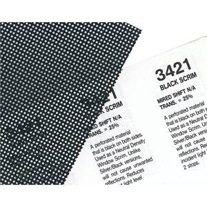 "Rosco Black Scrim Roll, 48"" x 25'"