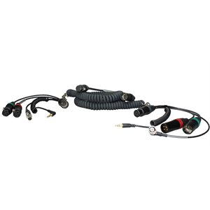 Ambient Recording Coiled mixer / camera loom, SD552, w /  TC, XLR-5F