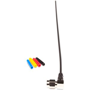 Antenna right-angled black with nickel plated SMA connector.