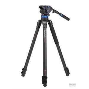 C3573F Series 3 CF Video Tripod & S7 Head - Leveling Column, 3 Leg Sections, Flip Lock Leg Release