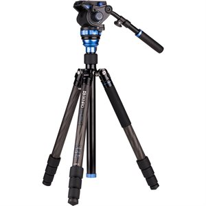 Benro Aero7 Travel Angel Video Carbon Fibre Tripod Kit - C3883T