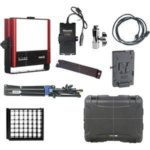 MavX V-Lock Travel Kit. Includes MavX fixture, yoke, 150W power supply with mounting