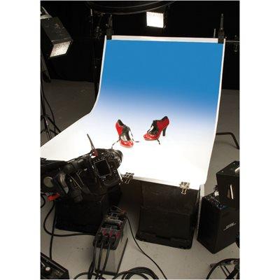 Colorama Colorgrad 100X170cm White / Bluebell