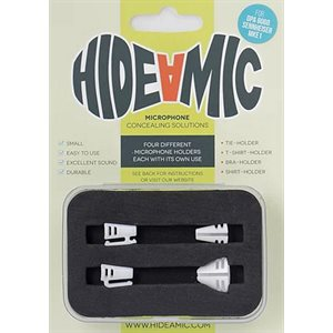 Hide-a-mic for DPA 6060 / 6061set 4 different holders in case, White