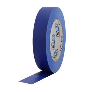 "PRO Tape Pro 46 Dark Blue Colored Crepe Paper Masking Tape 1"" 54m / 60YRD - 3"" Core"