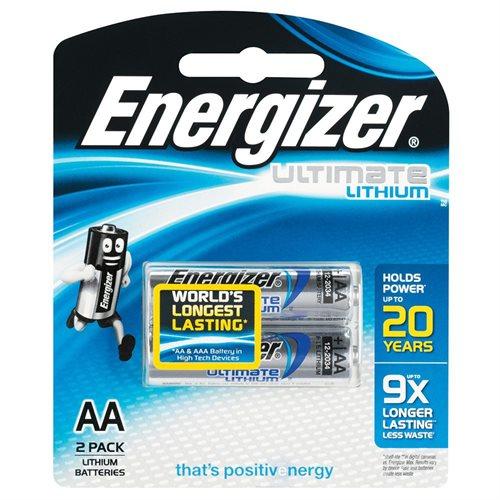 ENERGIZER LITHIUM AA BATTERIES (2PK)