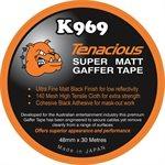 TENACIOUS K969 Super Matt Gaffer Tape 48mm X 30m