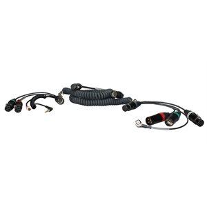 Ambient Recording Coiled mixer / camera loom, SD664 / 633, w / TC, 2 breakouts, XLR