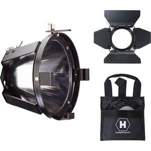 Par Reflector Attachment, Barndoors & 3 Lens Set w / Bag for BEE 50-C, WASP 100-C