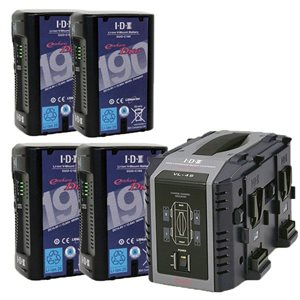 IDX BATTERY  /  CHARGER KIT (4xDUO-C190 & 1xVL2000S & 1xVL-DT1)