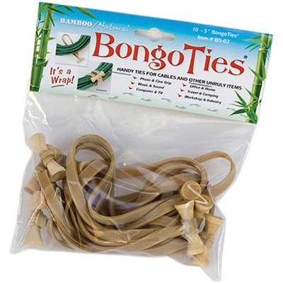 BongoTies Natural 10-pack