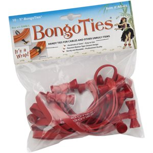 BongoTies  ALL-RED 10-pack