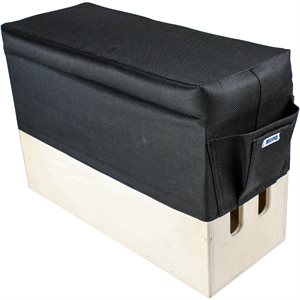 Kupo KAB-025 Apple Box Seat Cushion Black- Vertical Sized 20X 50cm