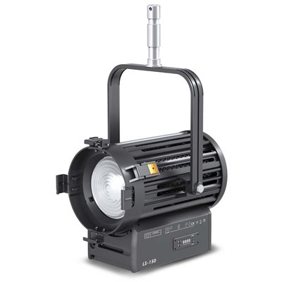 FILMGEAR LIGHTING 150W FRESNEL LED, TUNGSTEN, 4-LEAF BARNDOOR, +130MM FRESNEL LENS, & STIRRUP WITH +28MM SPIGOT