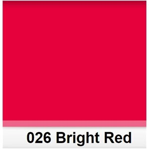 026 Bright Red roll, 1.22m X 7.62m  /  4' X 25'