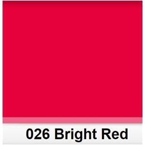 026 Bright Red roll, 1.22m X 7.62m / 4' X 25'