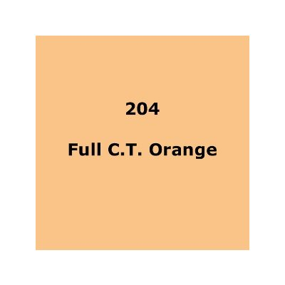 Lee Filters 204 Full C.T.Orange roll