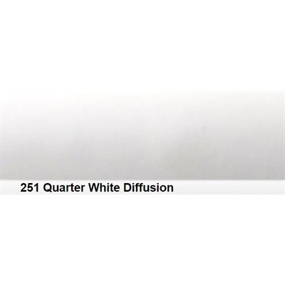 251 Quarter White Diffn roll, 1.22m X 7.62m / 4' X 25'