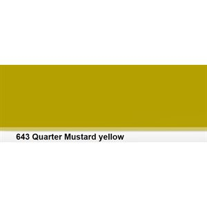 Lee Filters 643 Quater Mustard Yellow Roll