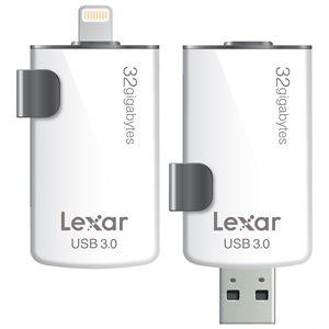 LEXAR JUMPDRIVE M20I 32GB LIGHTNING TO USB3