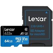 LEXAR 64GB MSDHC 633X UHS-1