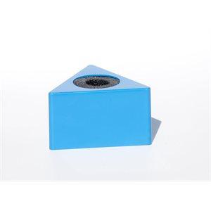 NAB MIC FLAG PLASTIC BLUE TRIANGLE
