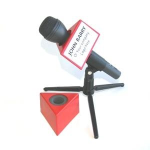 NAB MICROPHONE FLAG TRIANGLE RED