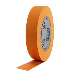 "PRO Tape Pro 46 Orange Colored Crepe Paper Masking Tape 1"" 54m / 60YRD - 3"" Core"