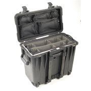 PELICAN # 1440 CASE WITH  OFFICE DIVIDERS AND LID ORGANISER - BLACK
