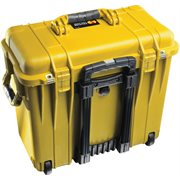 PELICAN # 1440 CASE WITH  OFFICE DIVIDERS AND LID ORGANISER - YELLOW