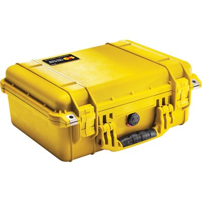 Pelican 1450 Case With Padded Dividers - Yellow *Special Order MOQ applies