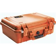 PELICAN #1500 CASE WITH PADDED DIVIDER SET - ORANGE