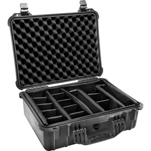 Pelican 1524Bd 1520 Case With Padded Divider Set - Black