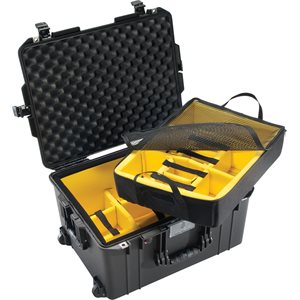 Pelican 1607 Air Case-W /  Padded Dividers-Black