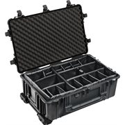 PELICAN # 1650 CASE WITH PADDED DIVIDER SET - BLACK