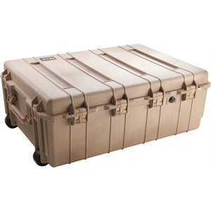 PELICAN # 1730 WEAPONS TRANSPORT CASE NO FOAM - DESERT TAN
