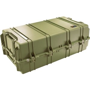 PELICAN # 1780 TRANSPORT CASE NO FOAM - OLIVE DRAB GREEN