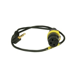 """AMBIENT Adapter cable XLR3F to 3,5mm (1 / 8"""")-90° TRS, dual mono, pad"""