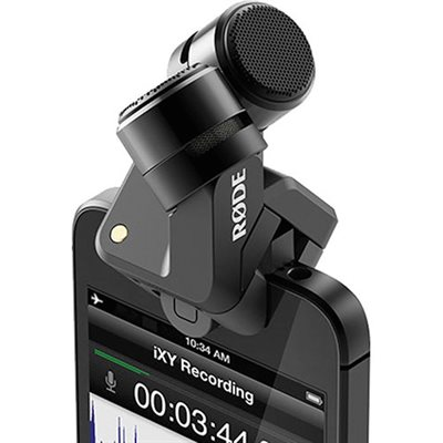 iXY-L Stereo microphone for Apple iOS devices - Lightning connector - 24bit / 96k - case & windshield.
