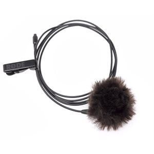 Long pin-through lapel microphone - Micon compatible - mesh-head + fury windshield + case + clip