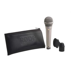 S1 Live performance super cardioid condenser microphone. Satin nickel finish.