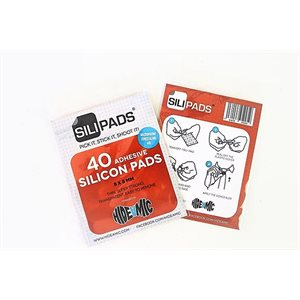 Hide-a-mic 10 Pack Hide-a-mic Sili-pads super strong adhesive pads (90%)