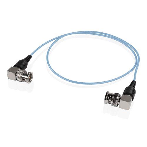 Shape SKI24B Skinny 90-Degree BNC Cable 24 Inches Blue