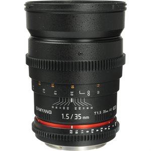 35mm T1.5 VDSLR II Canon EOS Full Frame
