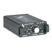 SOUND DEVICES Battery-powered single-channel microphone preamplifier