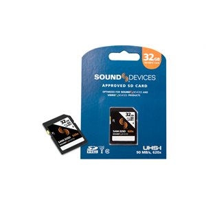 SOUND DEVICES SD / SDHC CARD 32GB / 90MB / 620X