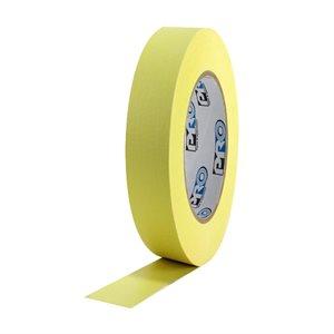 "PRO Tape Pro 46 Yellow Colored Crepe Paper Masking Tape 1"" 54m / 60YRD - 3"" Core"