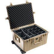 PELICAN 1620 CASE WITH DIVIDER SET - DESERT TAN